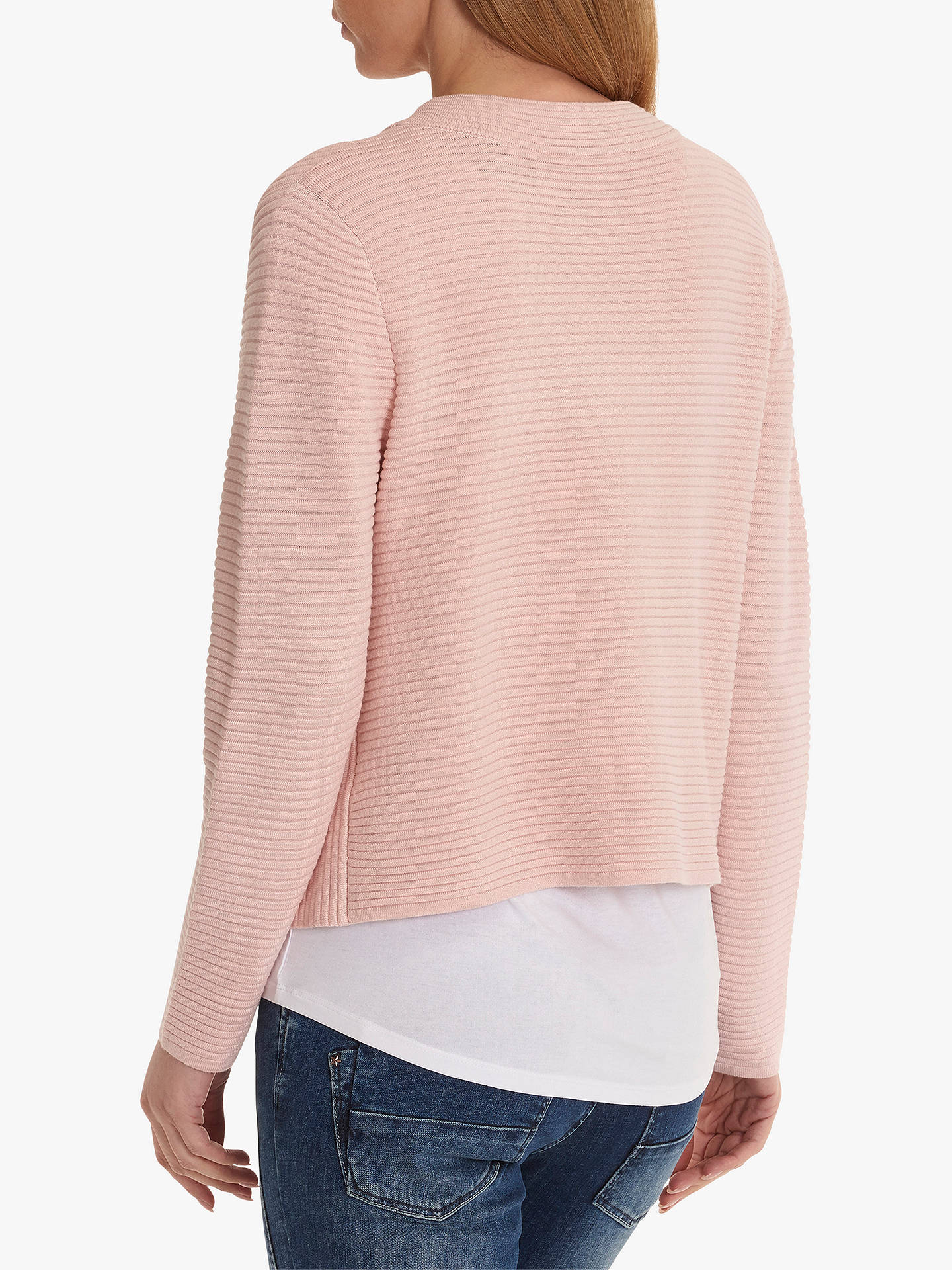Buy Betty Barclay Ribbed Knit Cardigan, Rose Blush, 10 Online at johnlewis.com