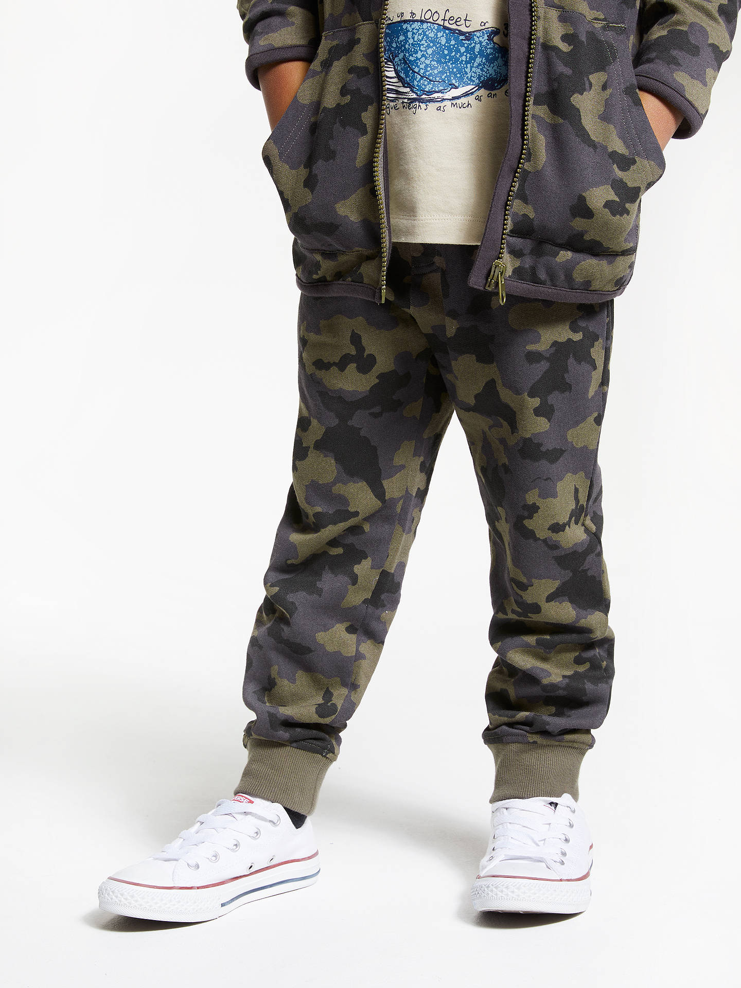 2ff79606fe97c8 Buy John Lewis & Partners Boys' Camouflage Joggers, Khaki, 2 years Online  at ...