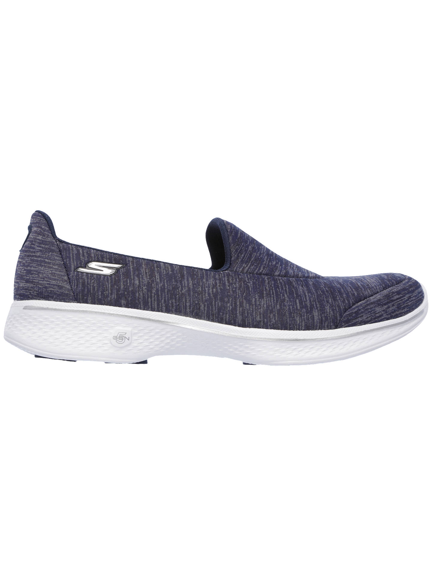 BuySkechers Go Walk 4 Slip On Trainers, Navy Mix, 8 Online at johnlewis.com