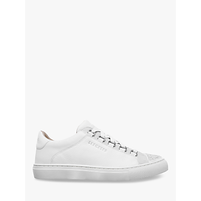 Skechers Side Street Bling Street Lace Up Trainers, White