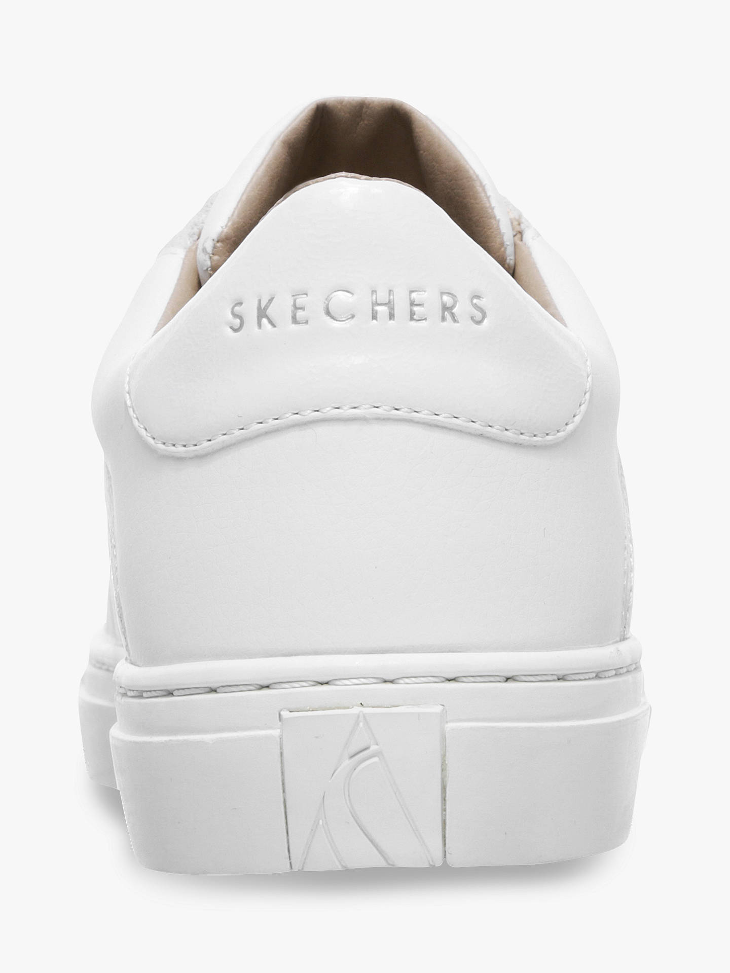 Buy Skechers Side Street Bling Street Lace Up Trainers, White, 6 Online at johnlewis.com