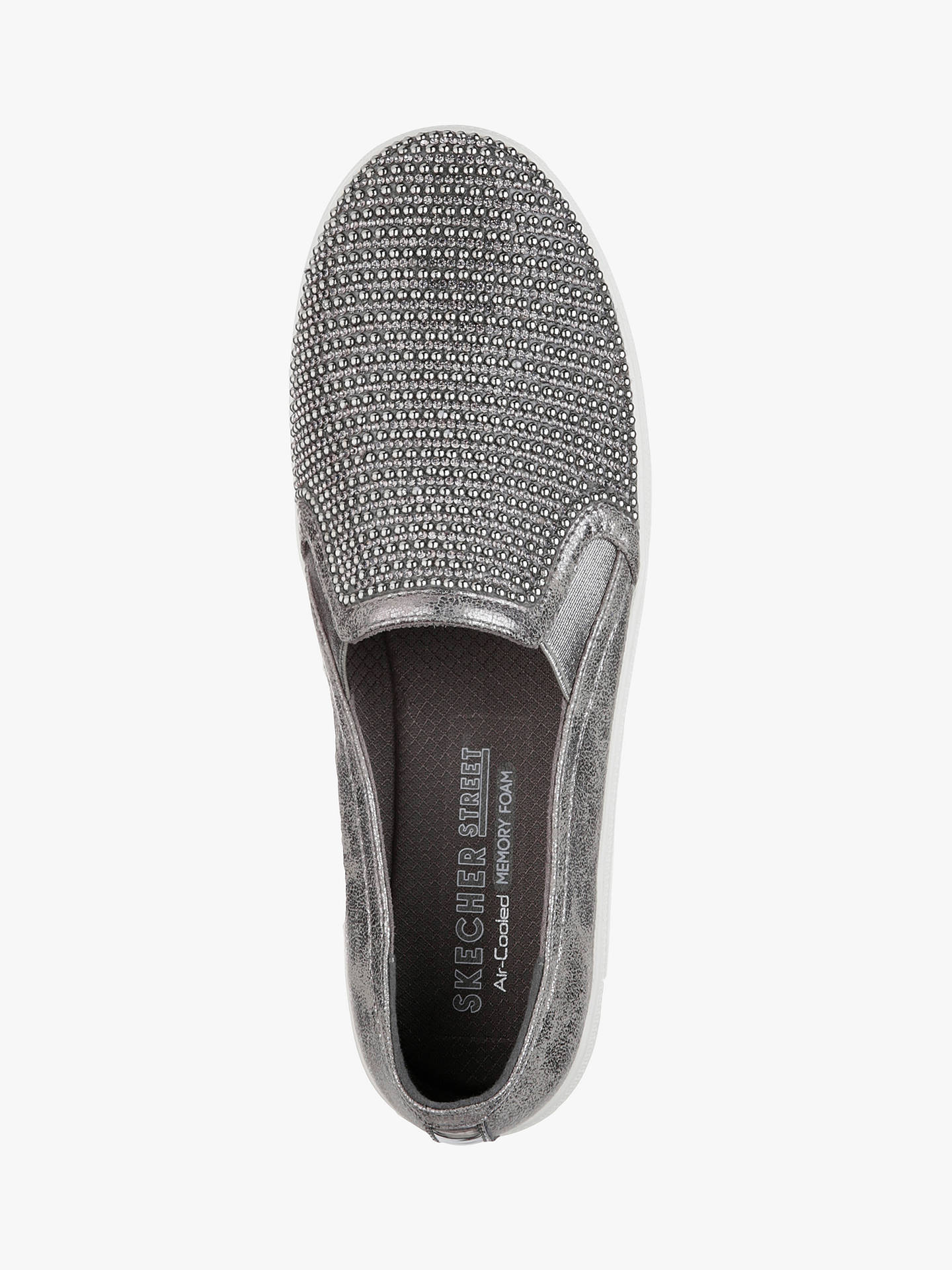 Buy Skechers Cheyanne Embellished Plimsolls, Pewter, 8 Online at johnlewis.com