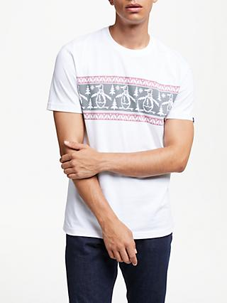 Original Penguin Festive T-Shirt, White