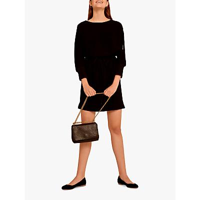 Gerard Darel Aurelie Zip Detail Short Dress, Black