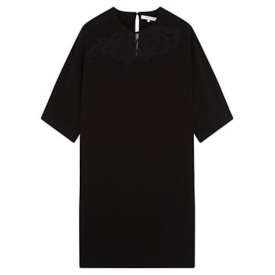 Gerard Darel Apolline Lace Detail Dress, Black