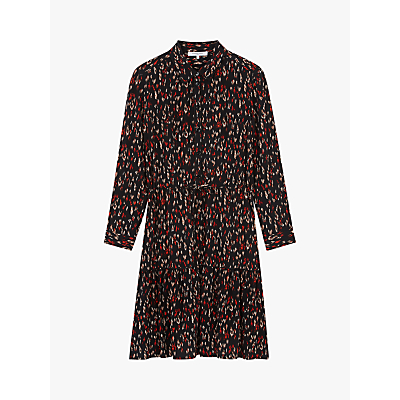 Gerard Darel Athina Abstract Print Shirt Dress, Black/Multi