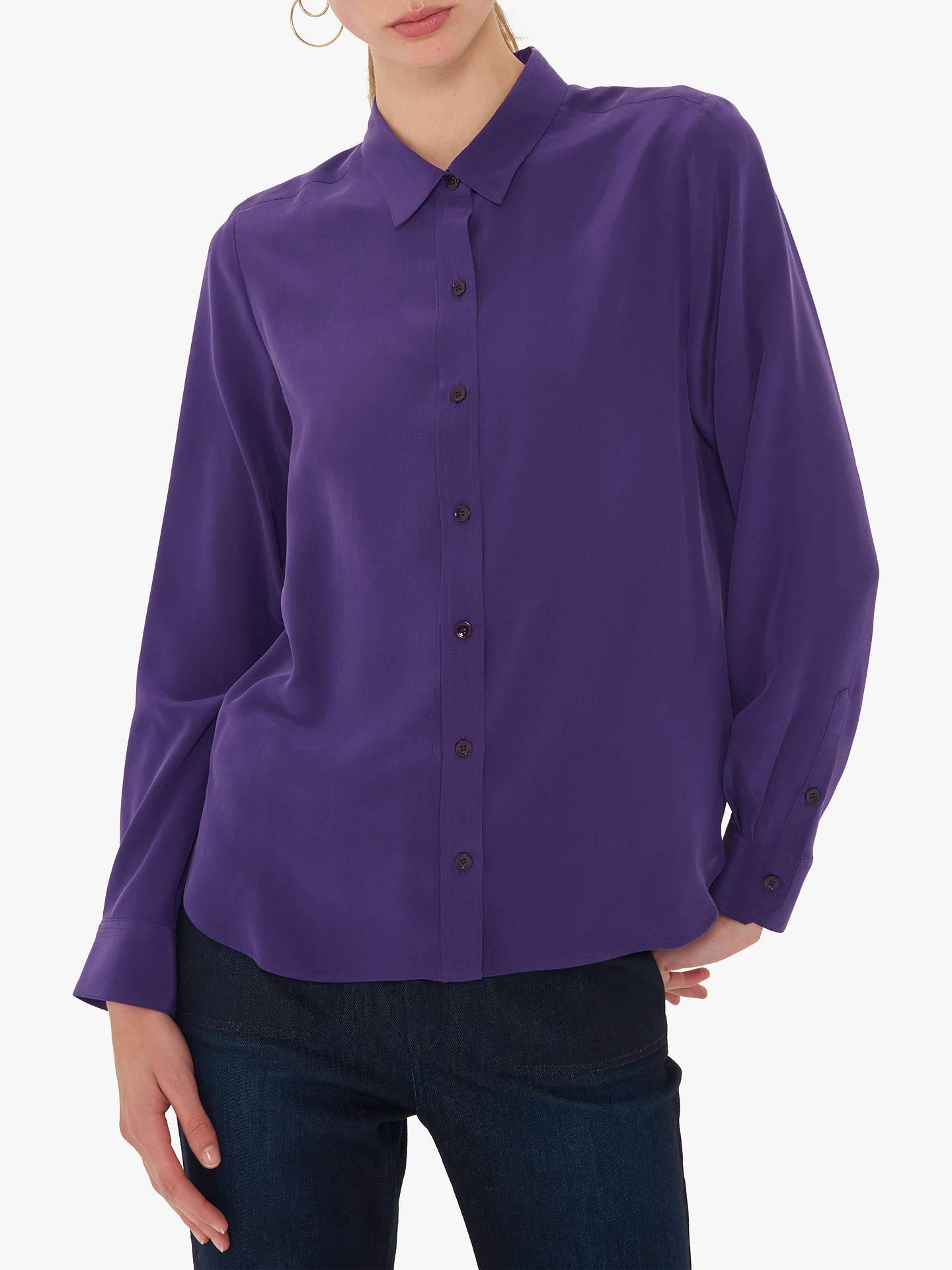 4ea05061692a92 Buy Gerard Darel Lila Silk Blouse, Purple, 6 Online at johnlewis.com ...