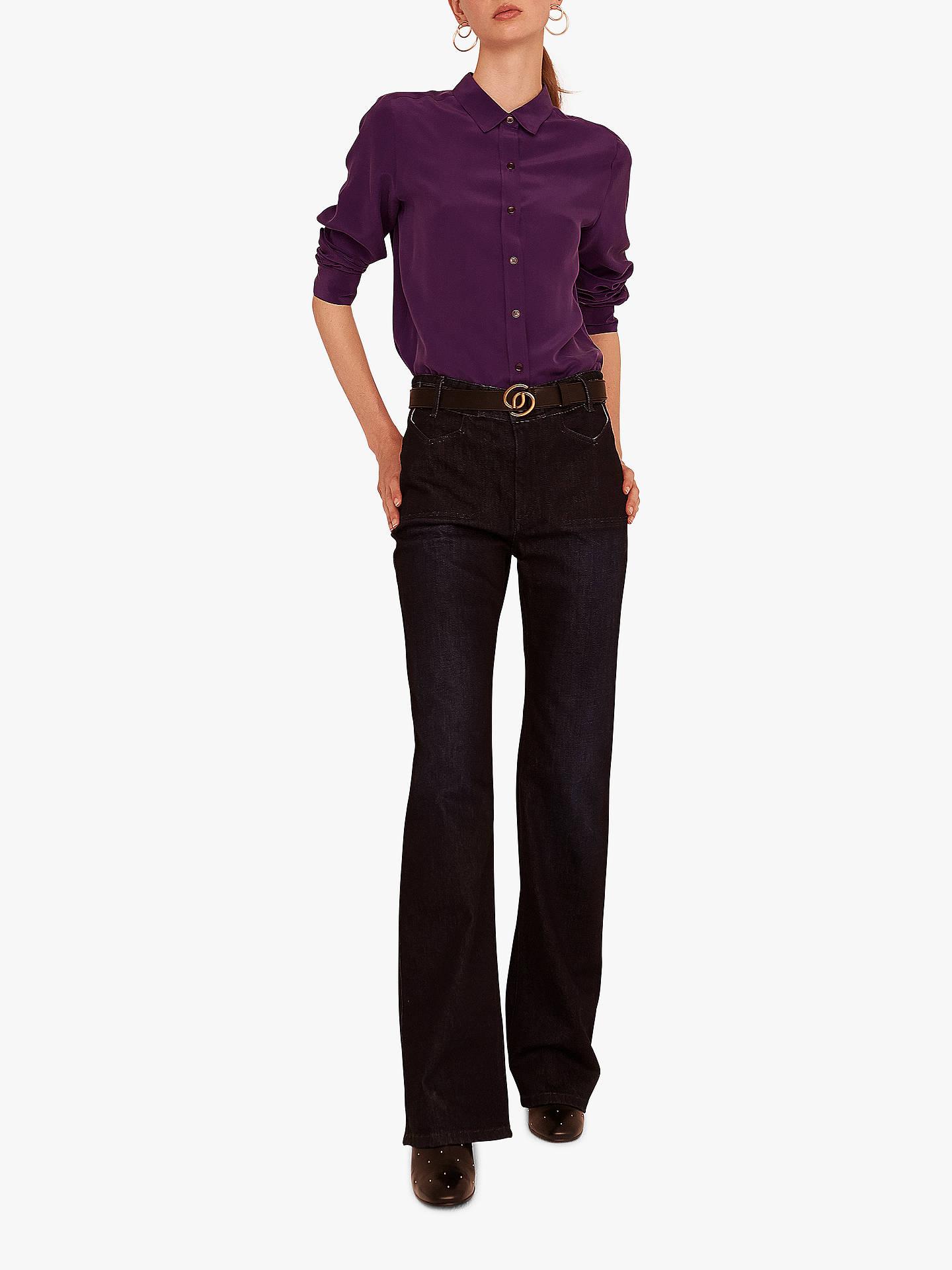 8dbee54e2ab639 ... Buy Gerard Darel Lila Silk Blouse, Purple, 6 Online at johnlewis.com ...