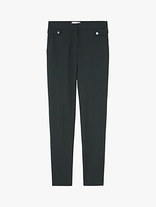 5f7ca680604 Gerard Darel Tailored Button Detail Guy Trousers, Bottle Green