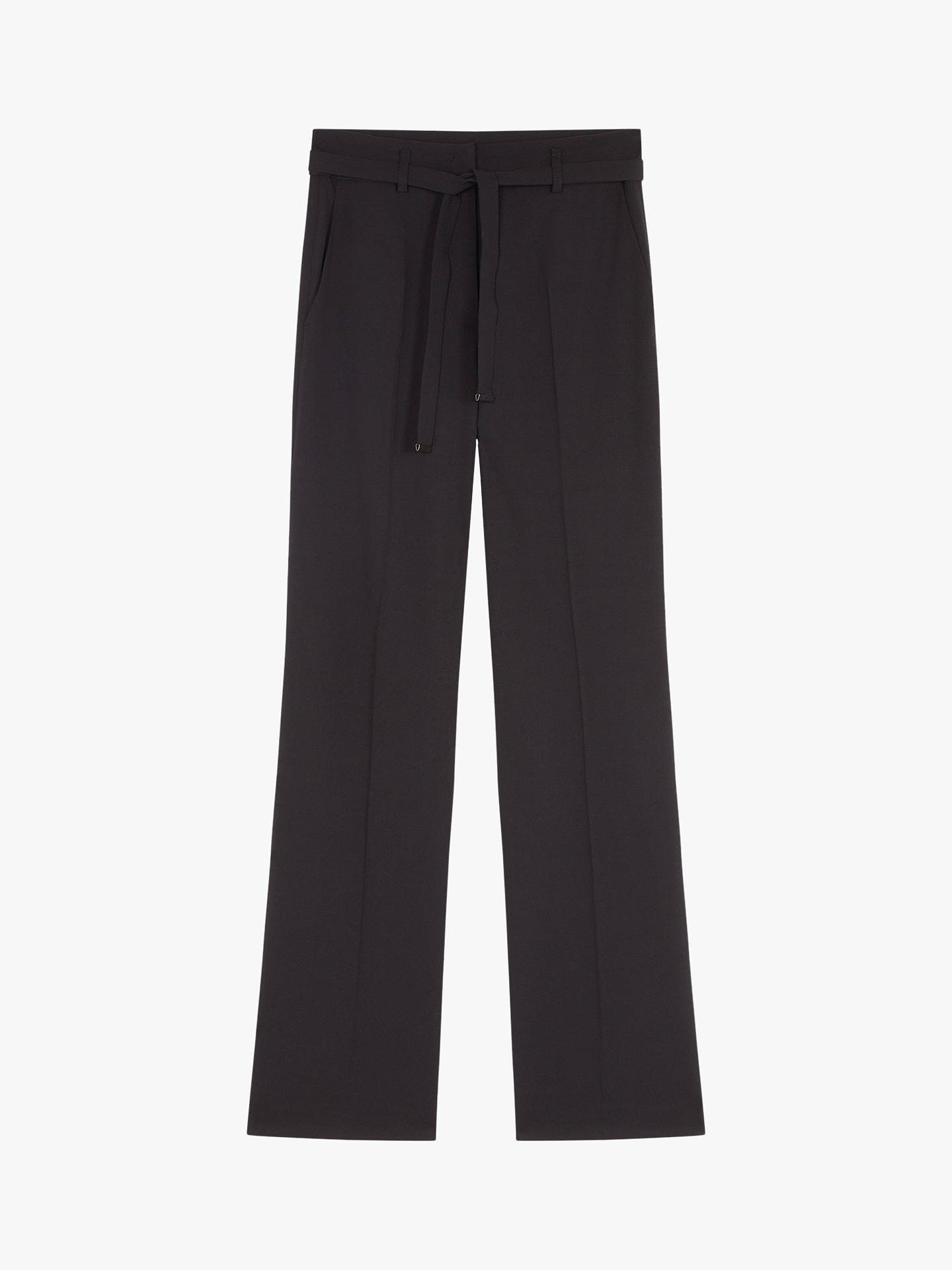 BuyGerard Darel Georgia Wool Blend Flared Trousers, Black, 10 Online at johnlewis.com
