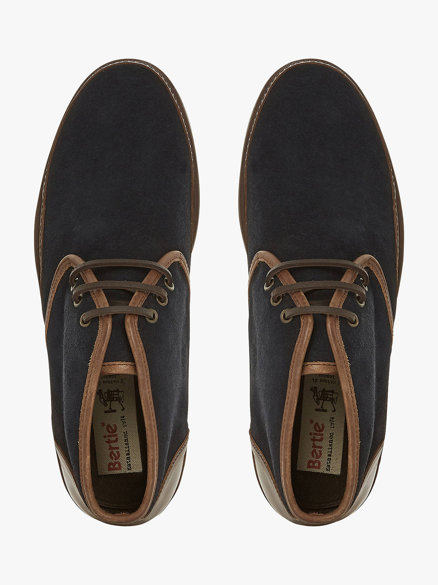 BuyBertie Canvas Suede Boots, Navy, 9 Online at johnlewis.com