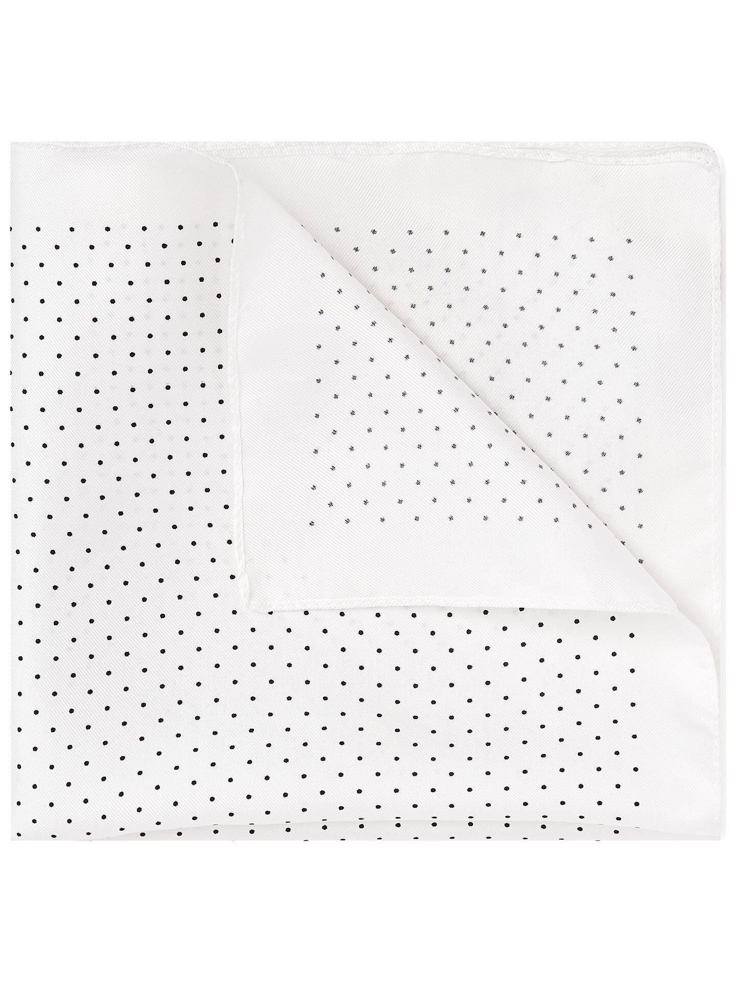 BuyHUGO by Hugo Boss Boss Pin Dot Pocket Square, Open White, One Size Online at johnlewis.com