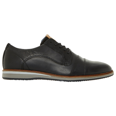 Dune Brawn Derby Shoes, Navy