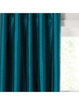 John Lewis & Partners Faux Silk Pair Blackout Lined Eyelet Curtains