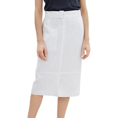 Jaeger Belted Safari Skirt, White