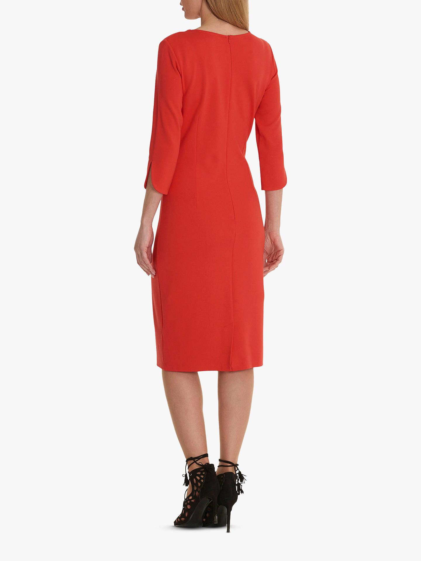 BuyBetty Barclay Keyhole Jersey Dress, Hibiscus Red, 10 Online at johnlewis.com