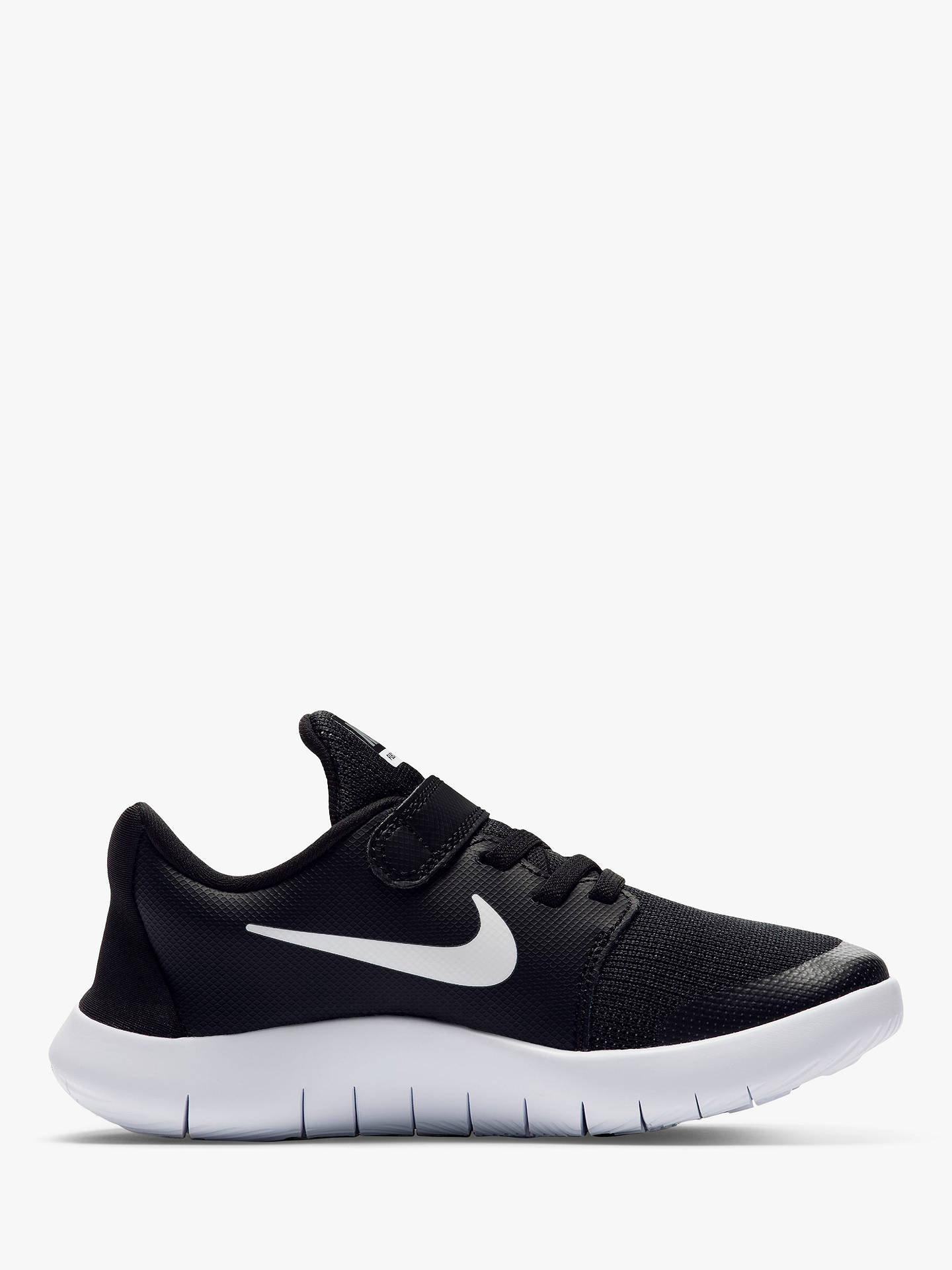 buy online 76da2 8839a BuyNike Childrens Flex Contact 2 Trainers, Black, 2 Online at johnlewis.  ...