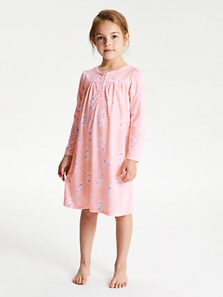 John Lewis & Partners Girls' Bunny Nightdress, Pink