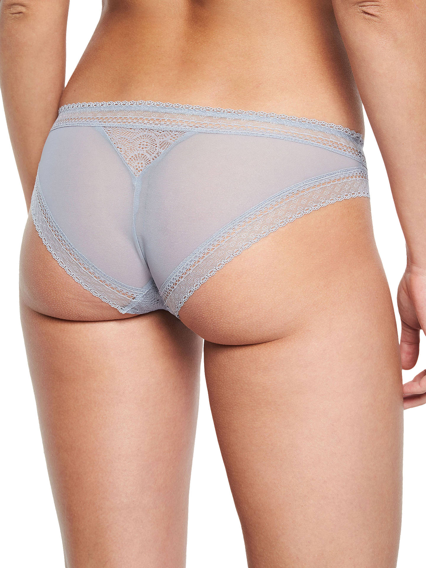 BuyChantelle Festivite Tanga Briefs, Grey, S Online at johnlewis.com