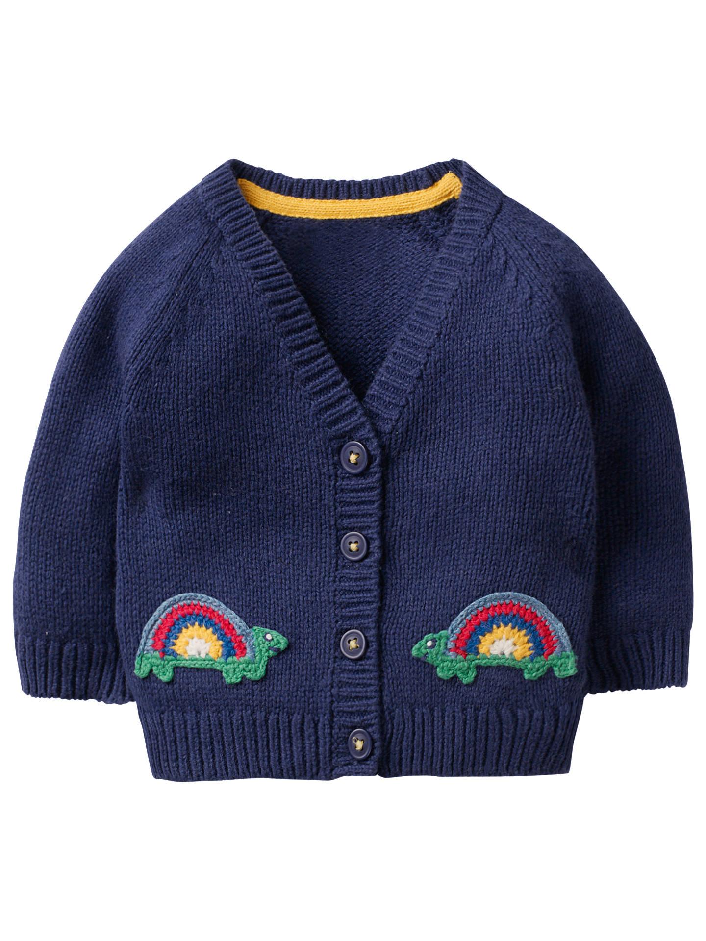 18 Boden 12 Rainbow months BuyMini Cardigan Baby Appilque Blue Turtle Beacon Crochet g7vHq6
