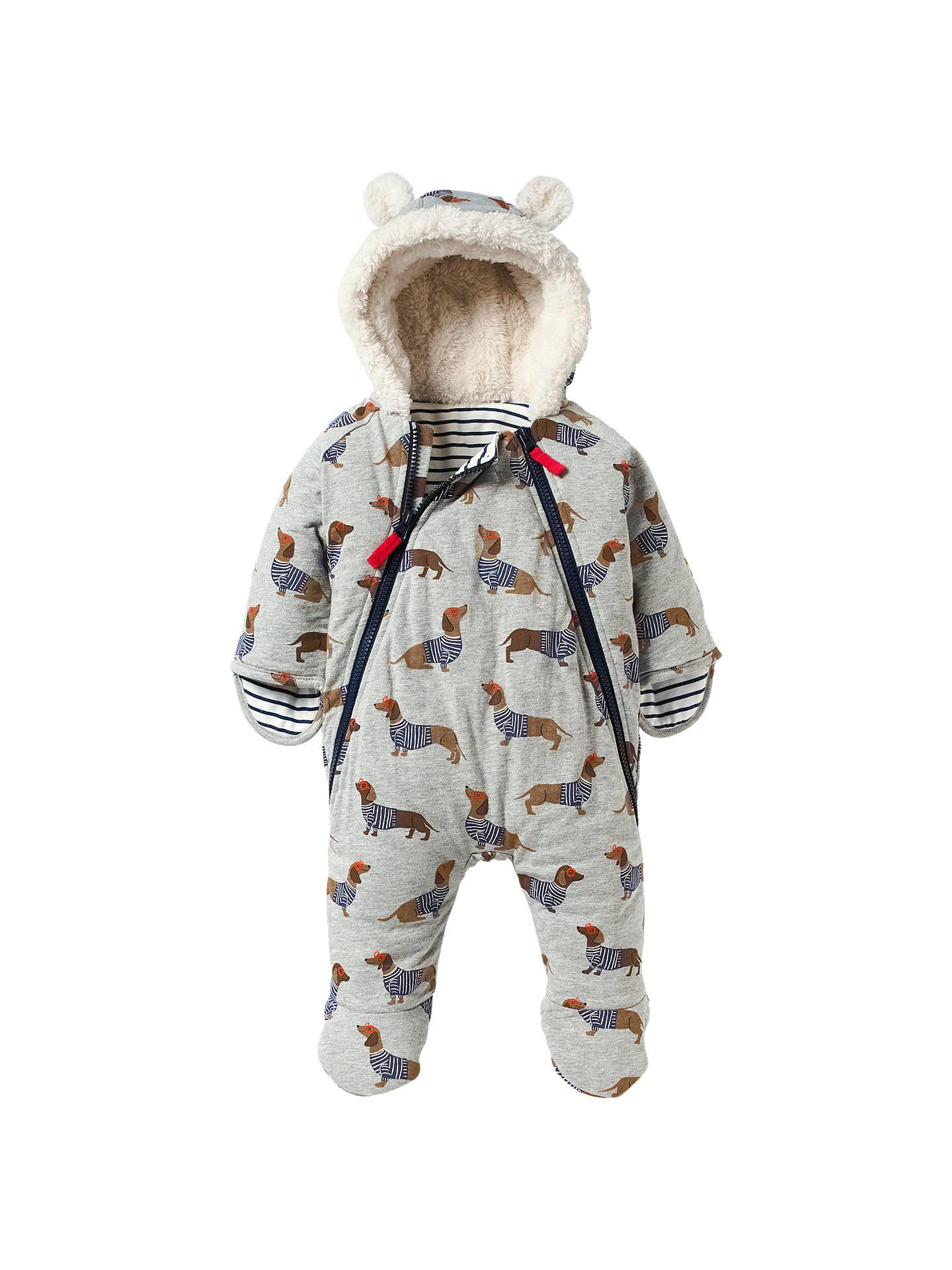 9dadd0d97 Buy Mini Boden Baby Dachshund Print Snowsuit, Grey/Multi, 0-3 months ...