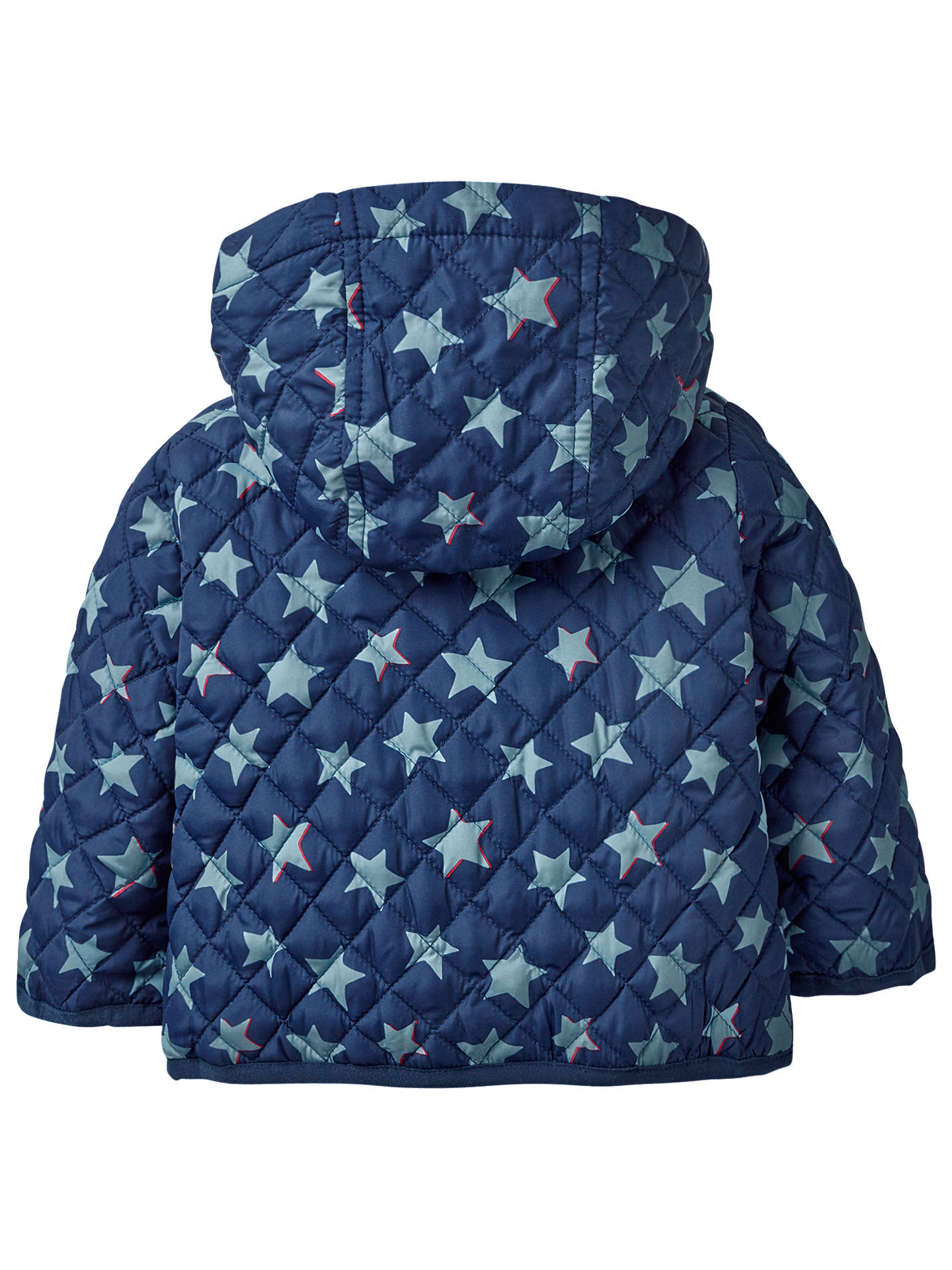 Mini Boden Baby Starry Quilted Coat Beacon Blue At John Lewis