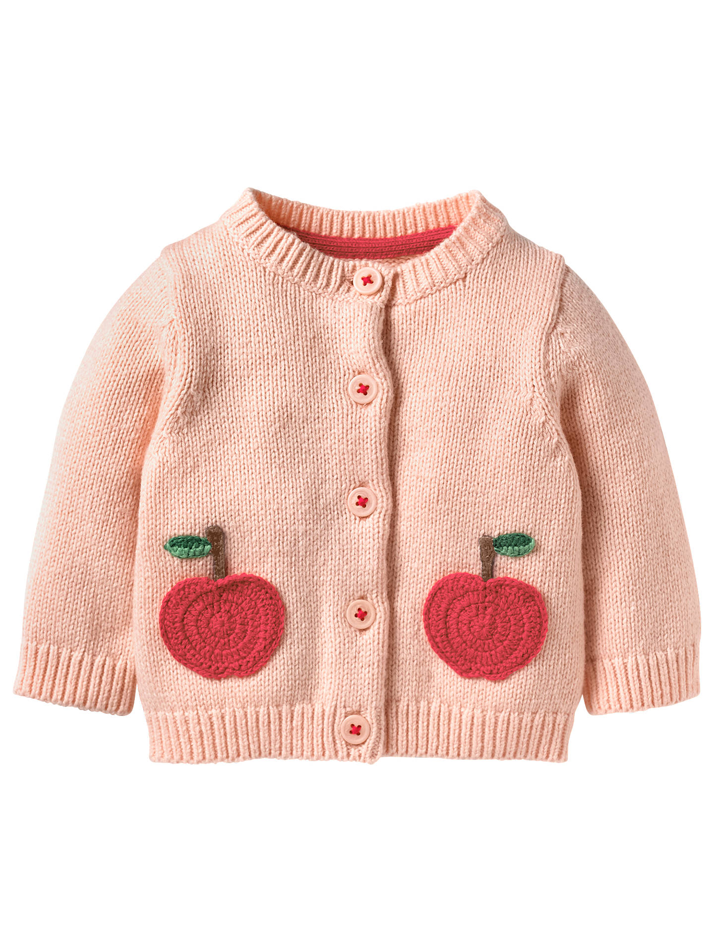 Mini Boden Baby Chara Apple Crochet Cardigan Provence Dusty Pink At
