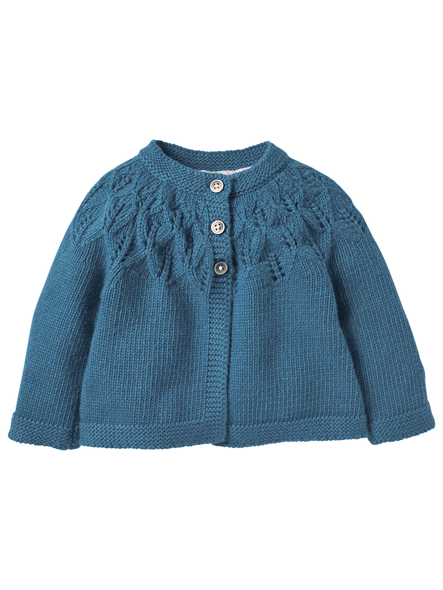 Mini Boden Baby Crochet Knit Cardigan Azure Bue At John Lewis