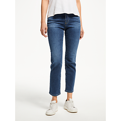 AG The Isabelle High Rise Straight Cropped Jean, 10 Years Cambria