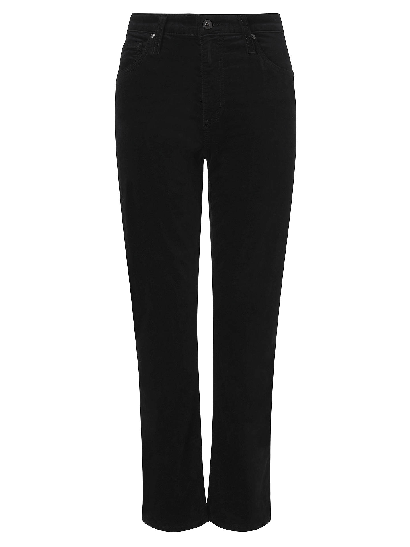 Buy AG The Isabelle High Rise Straight Cropped Jean, Super Black, 24 Online at johnlewis.com
