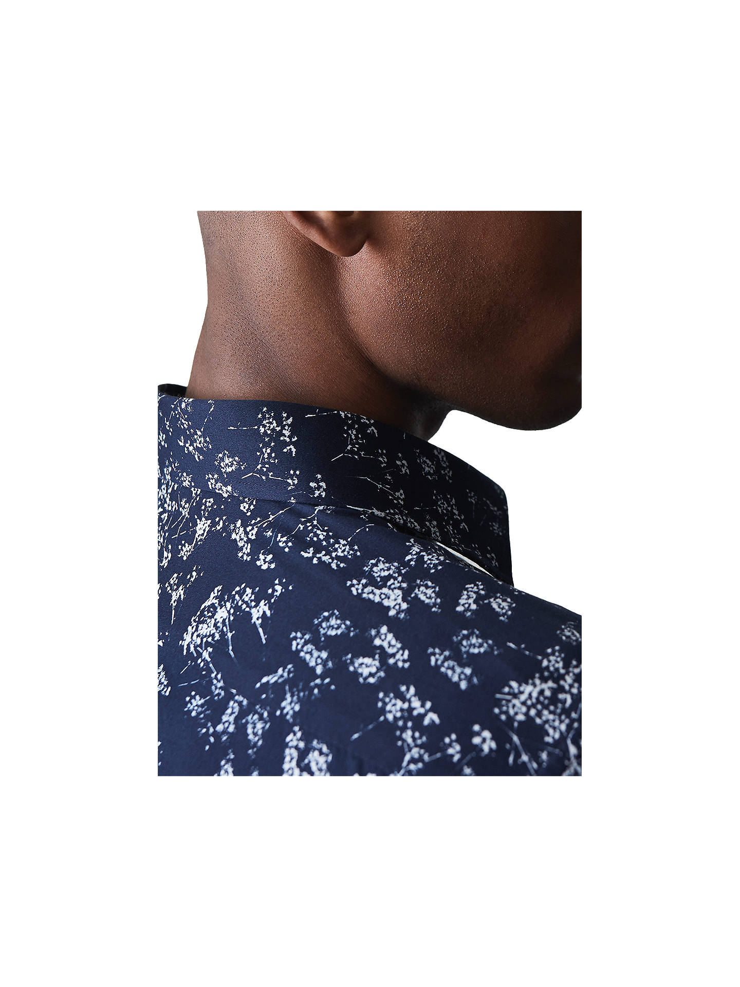 Buy Reiss Stafford Floral Print Shirt, Navy, S Online at johnlewis.com