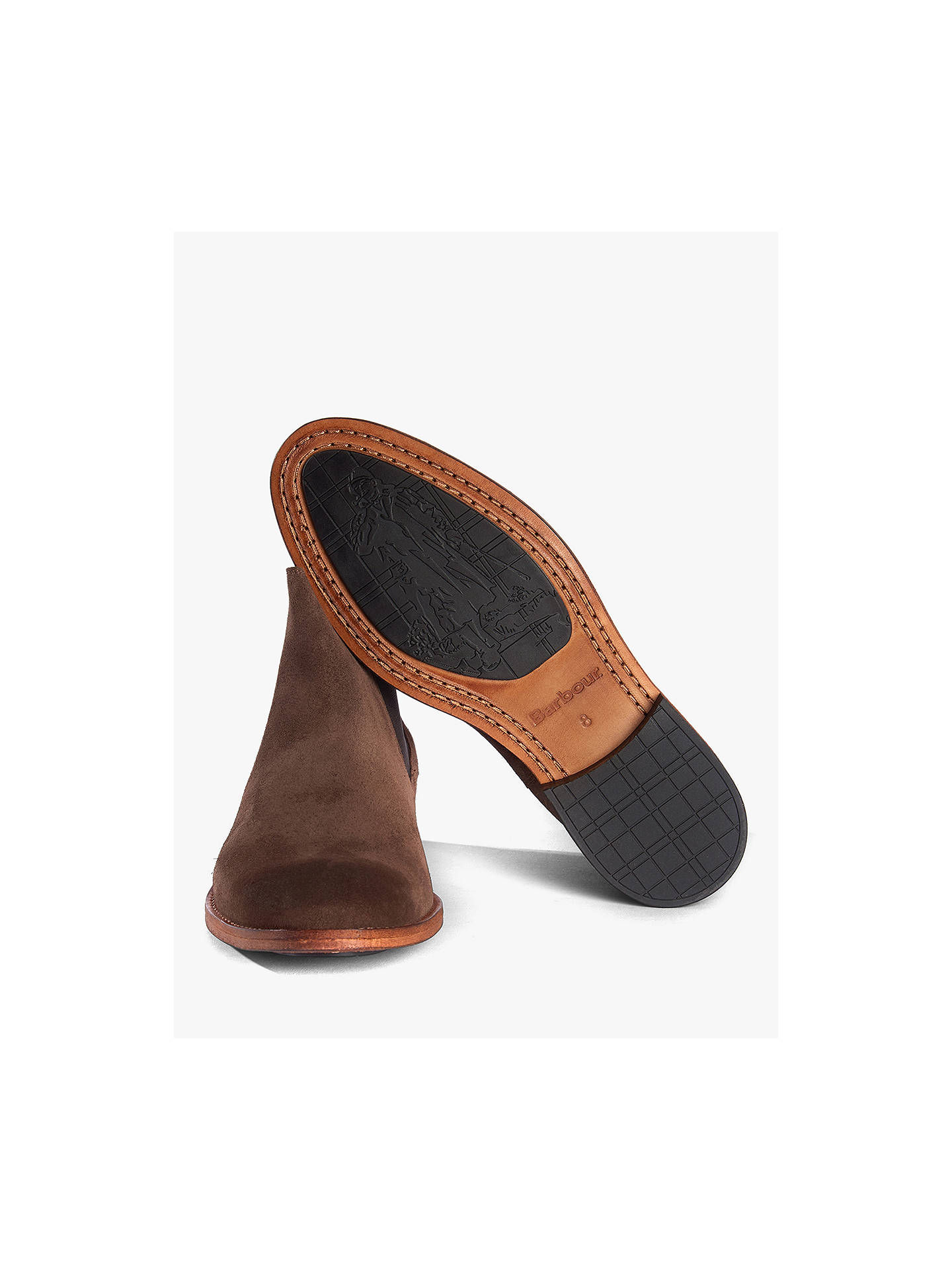 Buy Barbour Bedlington Suede Chelsea Boots, Choc Suede, 8 Online at johnlewis.com