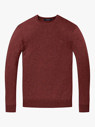 Buy Scotch & Soda Classic Crew Neck Pullover Jumper, Berry Melange, S Online at johnlewis.com