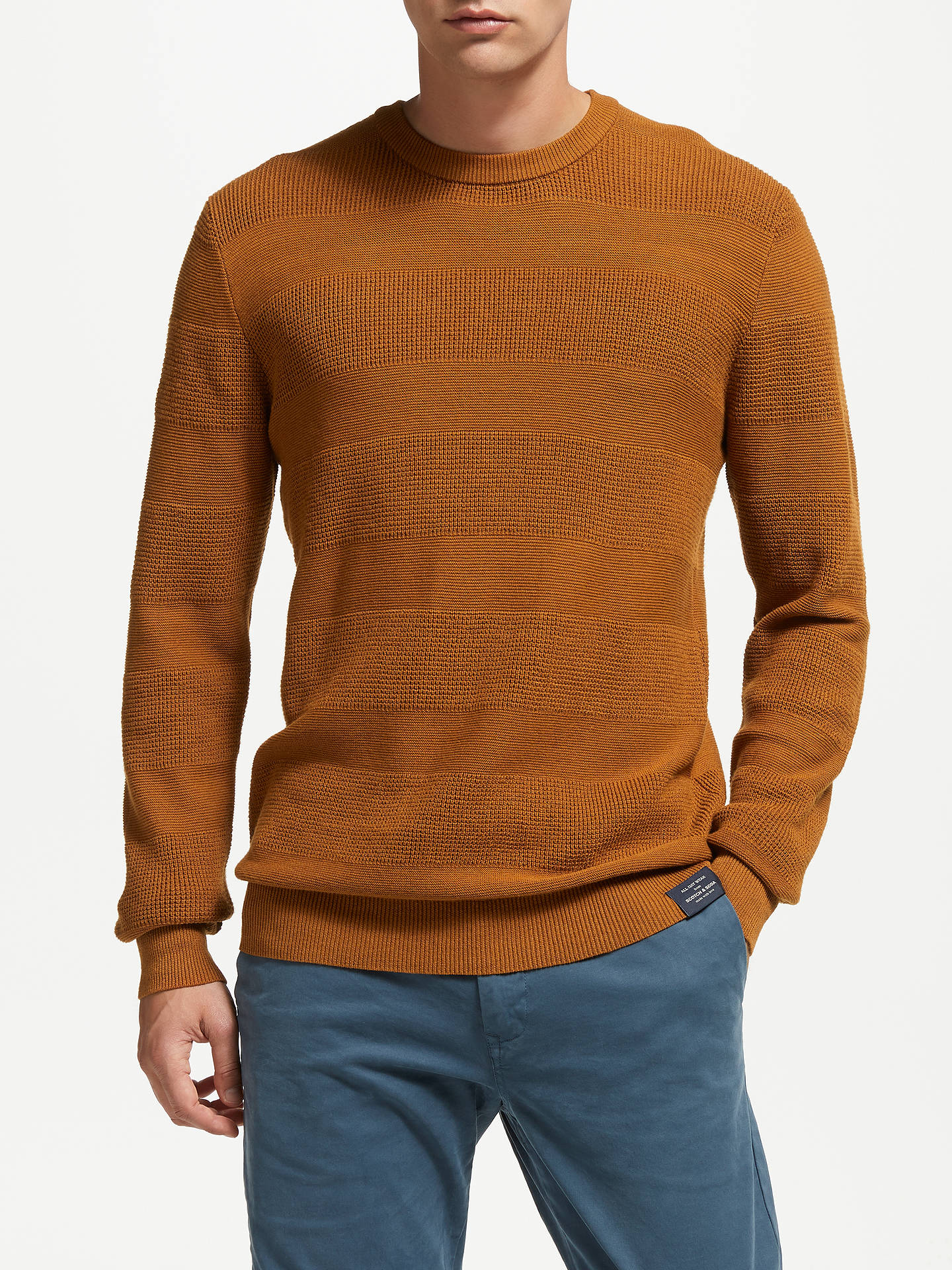 BuyScotch & Soda Chic Crew Neck Jumper, Rust, XL Online at johnlewis.com
