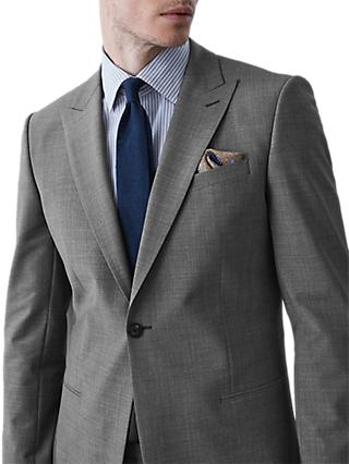 Reiss Belief Modern Fit Travel Suit Jacket, Soft Grey