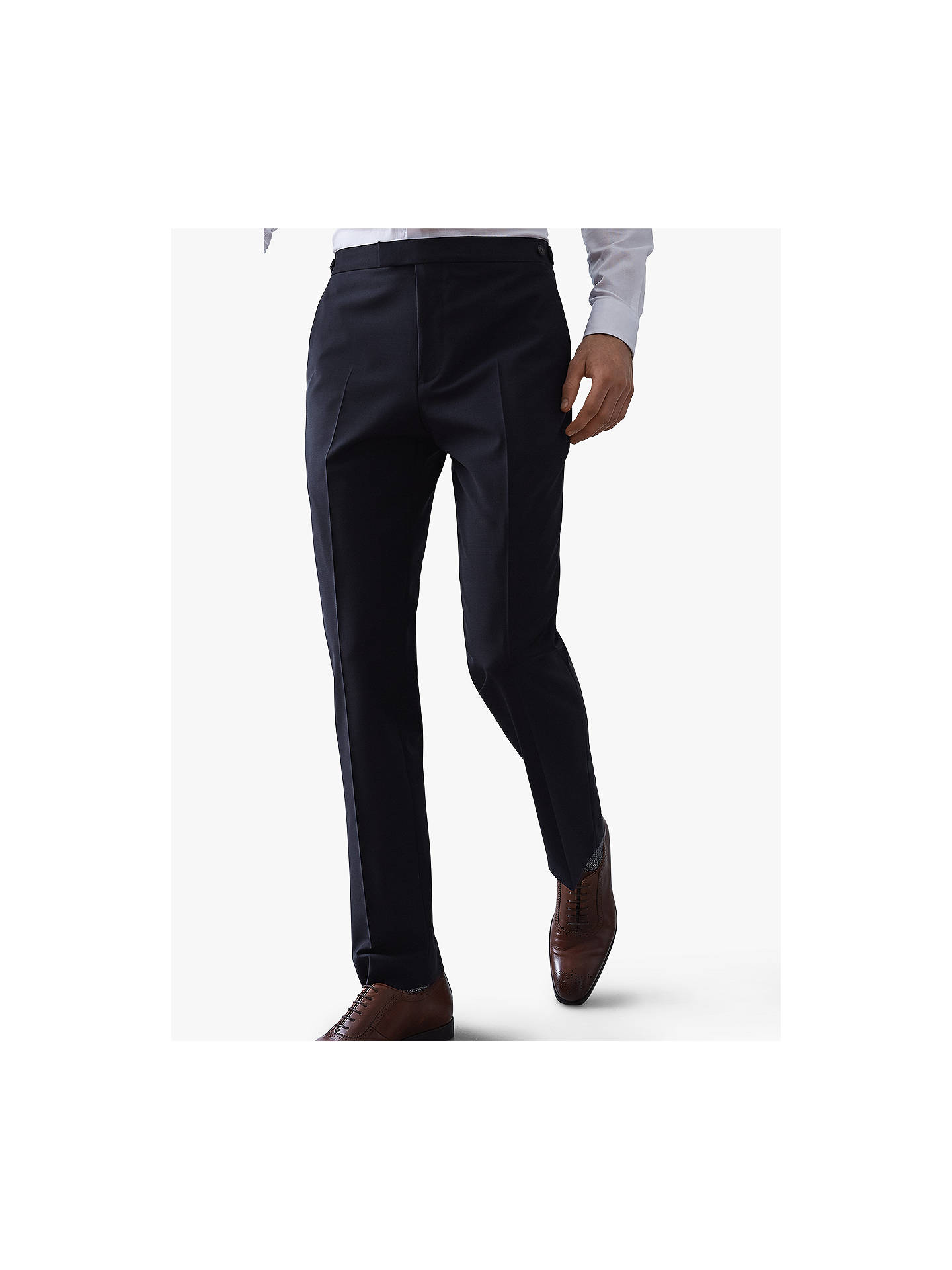 Buy Reiss Belief Modern Fit Travel Suit Trousers, Navy, 36R Online at johnlewis.com