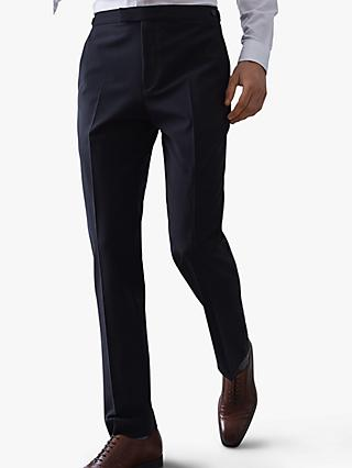 Reiss Belief Modern Fit Travel Suit Trousers, Navy