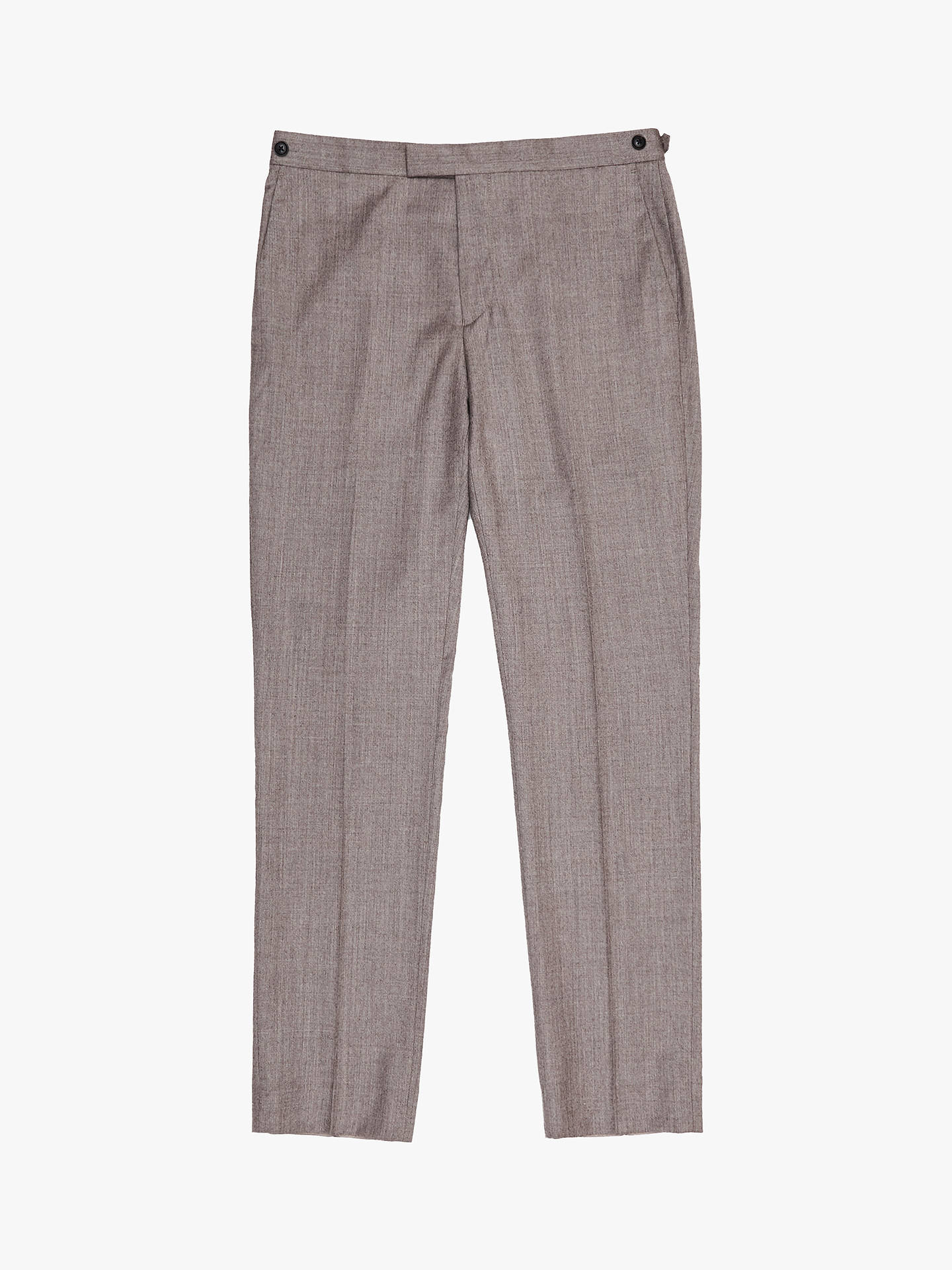 BuyReiss Welder Slim Fit Wool Suit Trousers, Taupe, 30R Online at johnlewis.com
