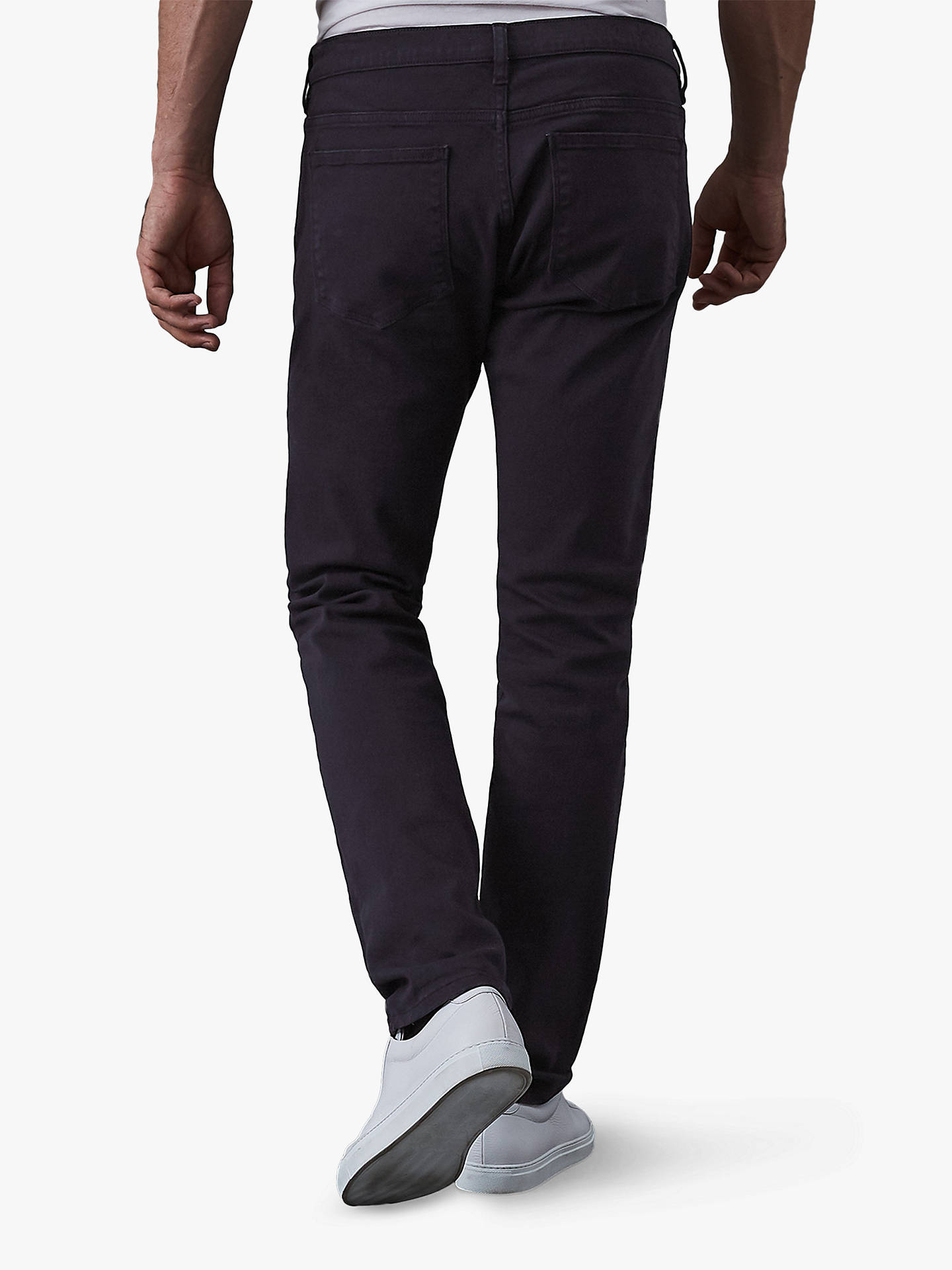 Buy Reiss Soloman Garment Dye Slim Jeans, Indigo, 30R Online at johnlewis.com