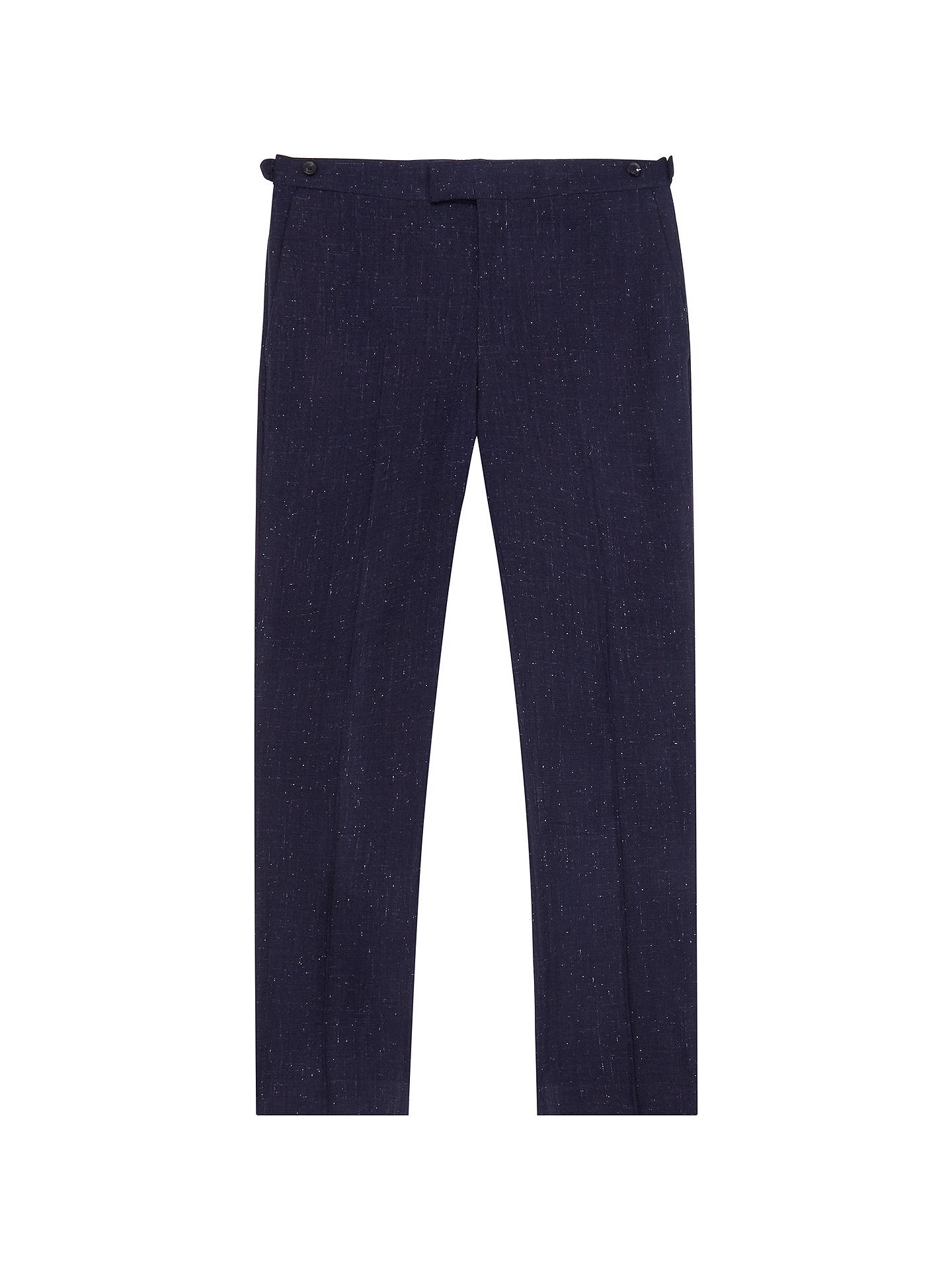 BuyReiss Fountain Nep Texture Slim Fit Suit Trousers, Navy, 30R Online at johnlewis.com