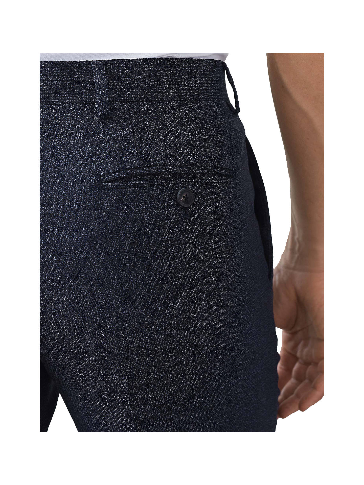 Buy Reiss Vapour Textured Slim Fit Suit Trousers, Indigo, 30R Online at johnlewis.com