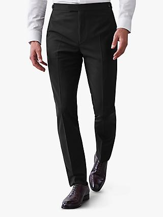 Reiss Belief Modern Fit Travel Suit Trousers, Black