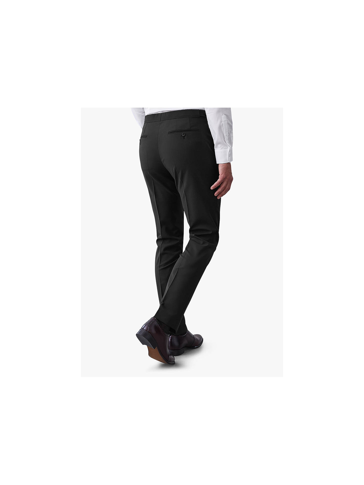 BuyReiss Belief Modern Fit Travel Suit Trousers, Black, 30R Online at johnlewis.com