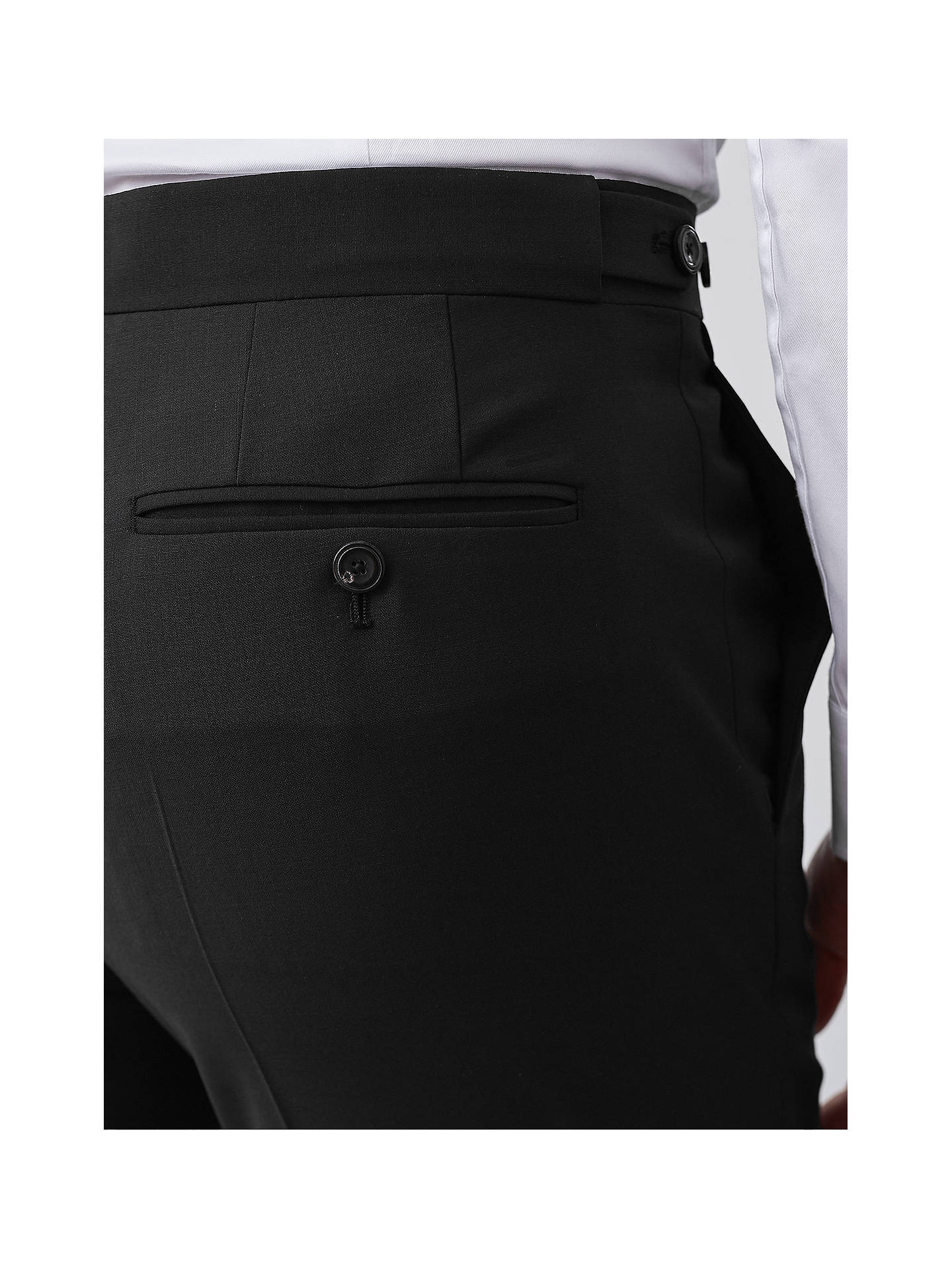 Buy Reiss Belief Modern Fit Travel Suit Trousers, Black, 38R Online at johnlewis.com