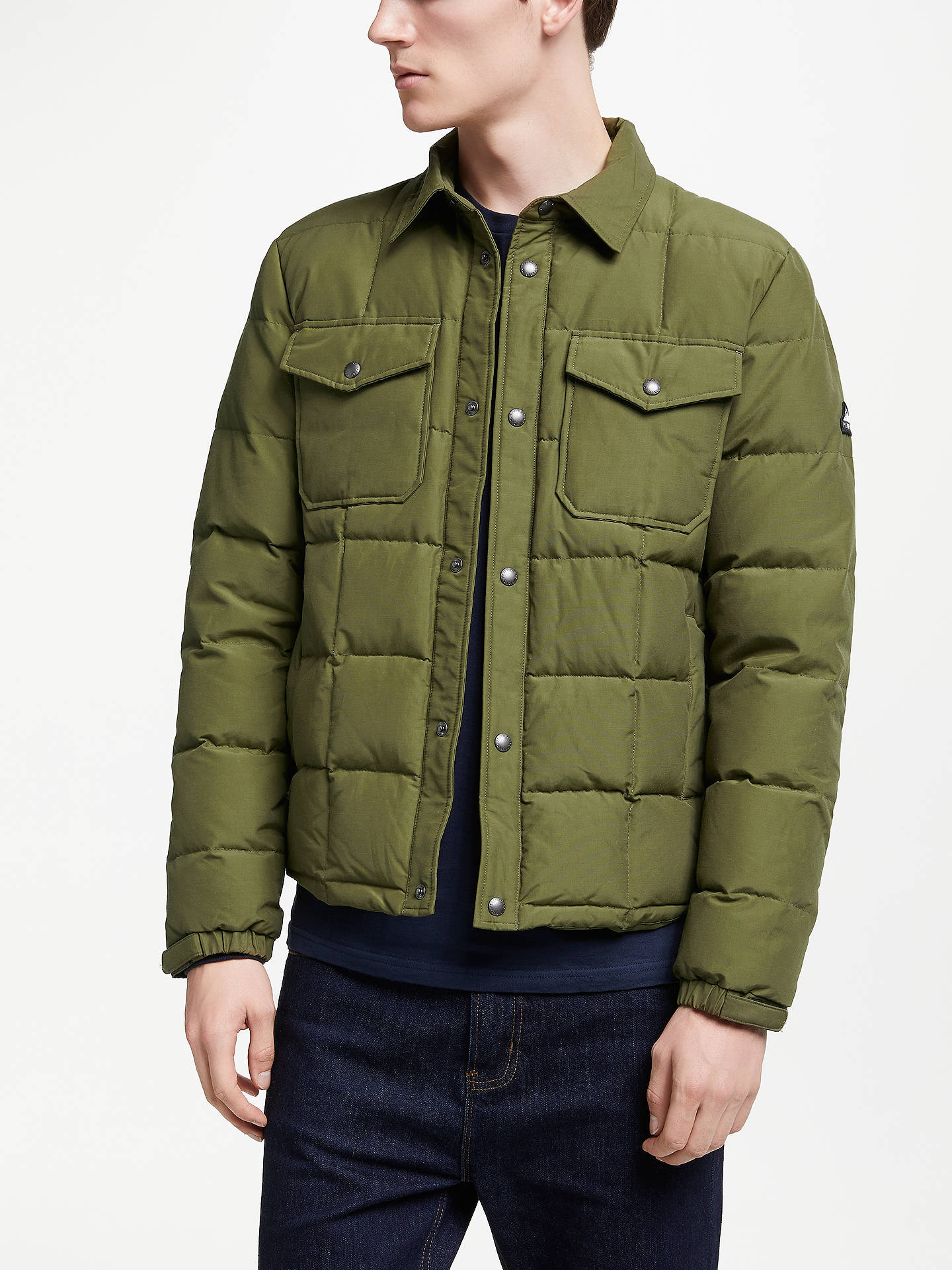 c7e2cc754 Penfield Crestone Quilted Jacket, Green at John Lewis & Partners