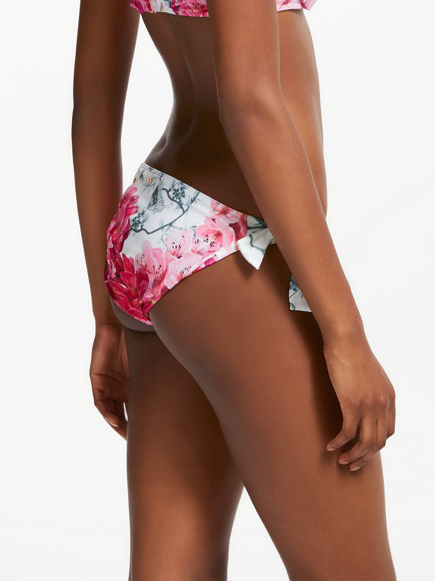 BuyTed Baker Fardet Babylon Print Tie Side Bikini Bottoms, White/Pink, 1 Online at johnlewis.com