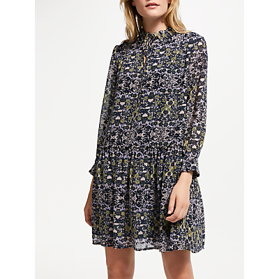 Great Plains Speckled Flower Dress, Midnight Multi Combo