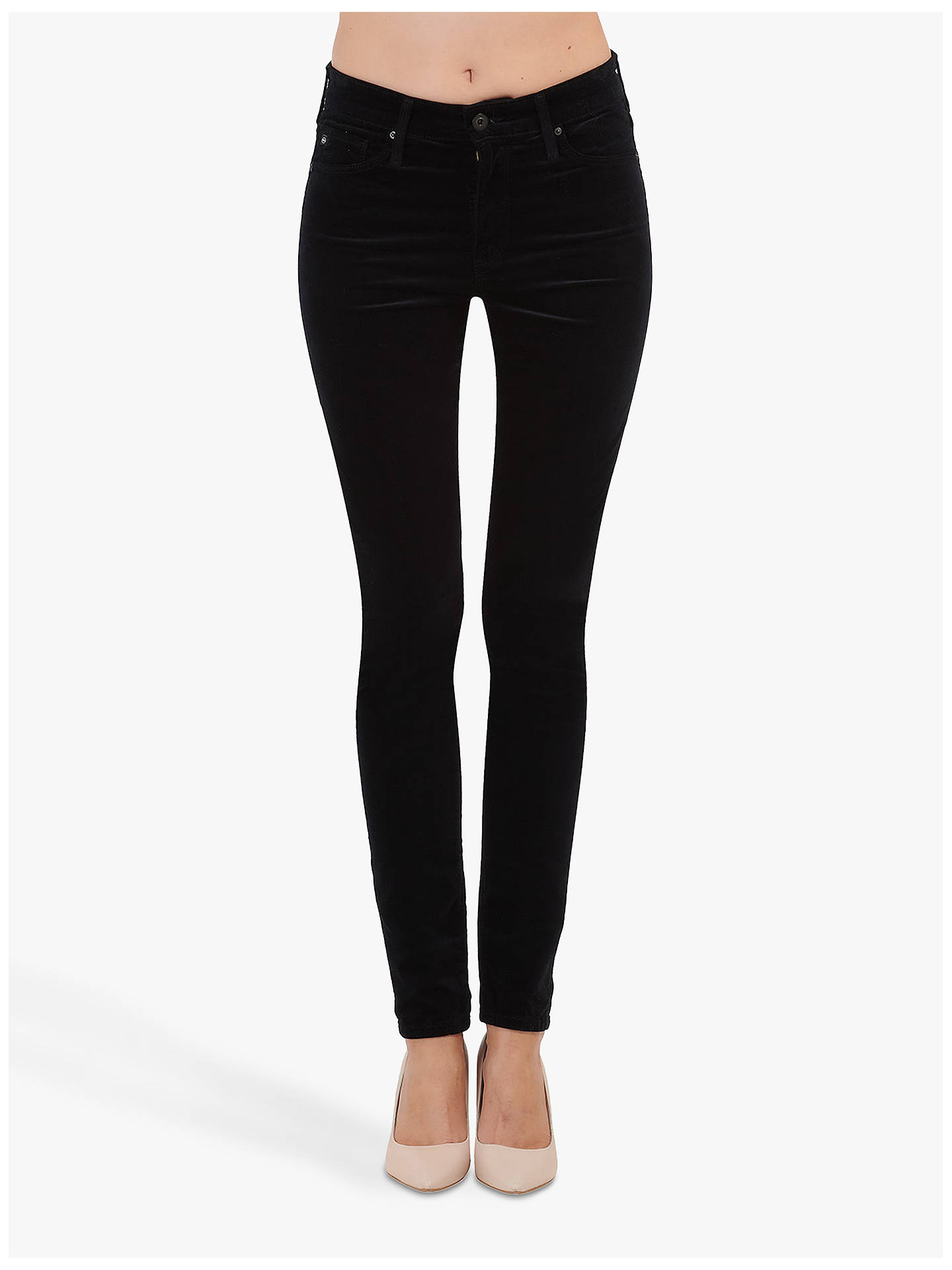 BuyAG The Farrah High Rise Skinny Ankle Jeans, Black, 24 Online at johnlewis.com