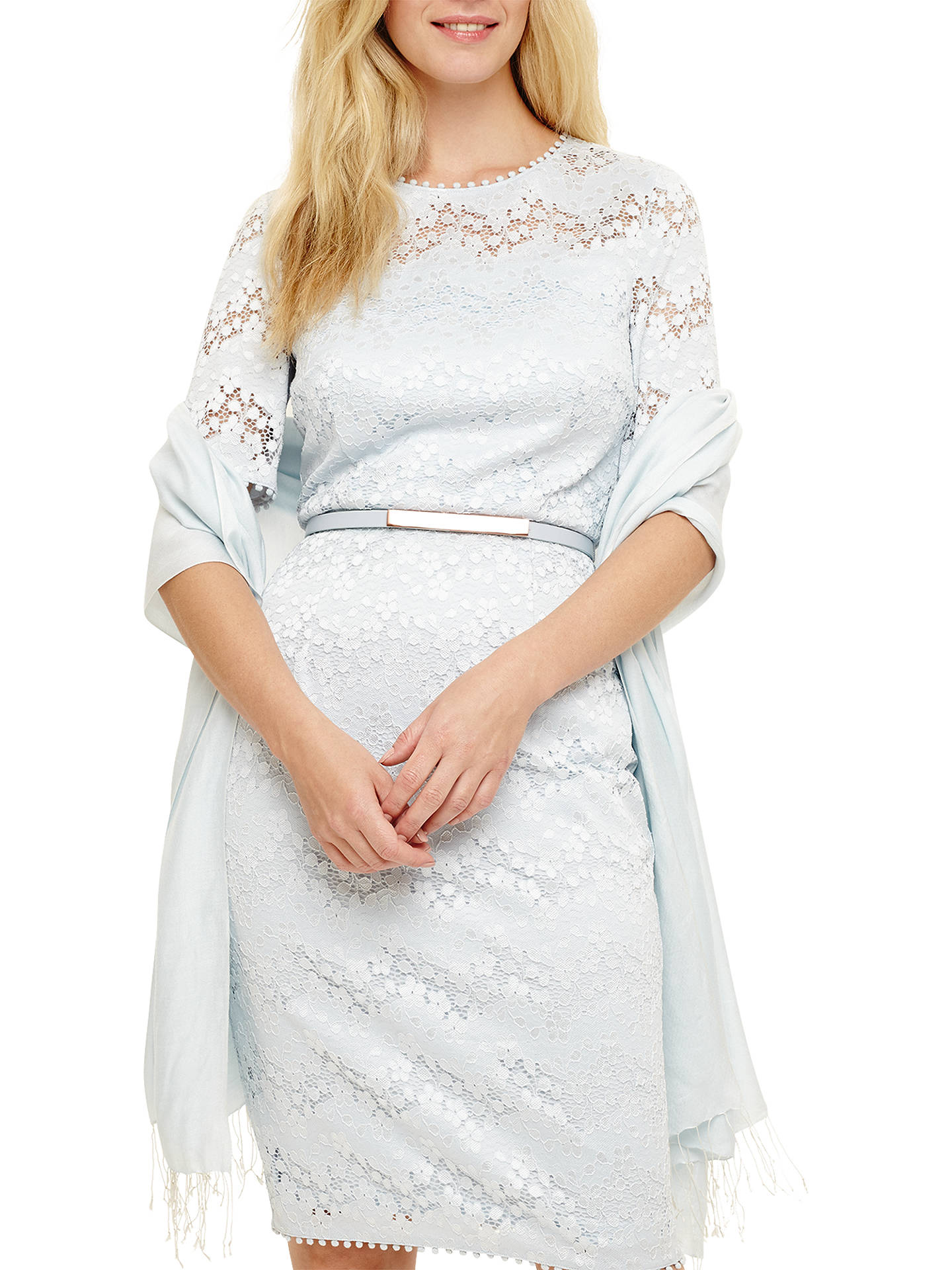 Buy Phase Eight Diamond Weave Shawl, Soft Blue Online at johnlewis.com