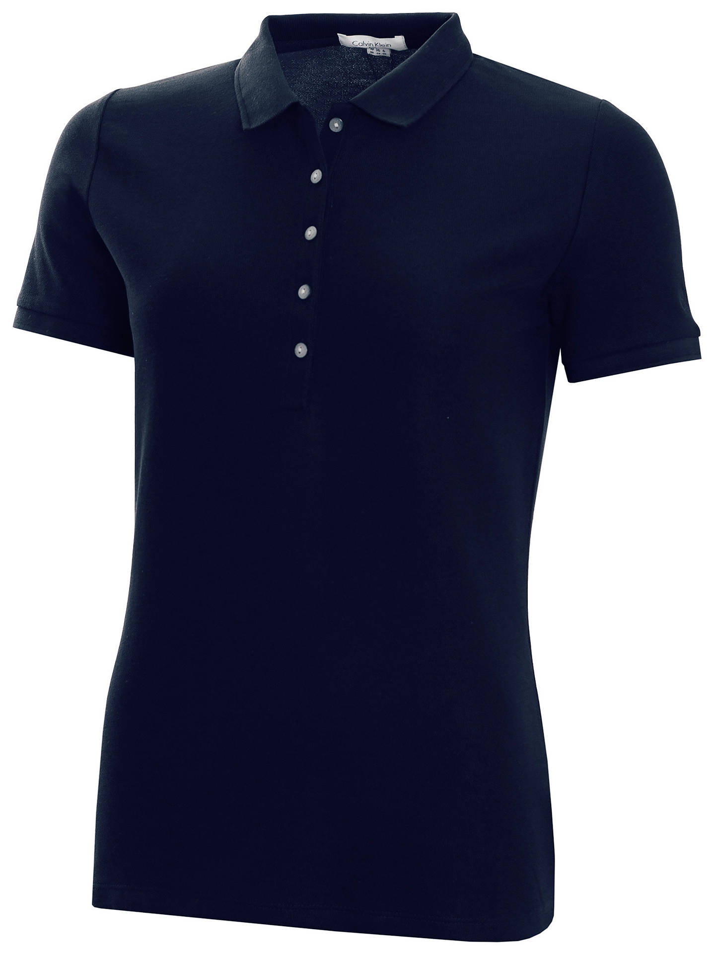 Buy Calvin Klein Performance Pique Women's Polo Top, Navy, M Online at johnlewis.com